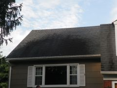 Scotch Plains New Jersey Roof Cleaning Before Pic