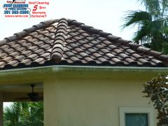 Katy-Memorial Roof Cleaning & Power Washing cleaned this tile roof