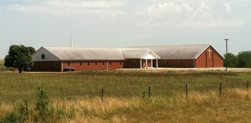 Buck Grove Community Church Before Roof Cleaning-Mattoon, Illinois