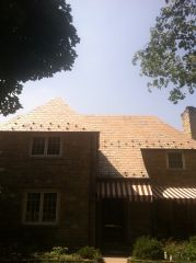 Slate Roof Cleaning / After