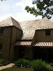 Slate Roof Cleaning / Before