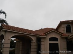 after tile roof clean friendswood Tx