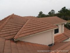 before tile roof cleaning houston