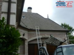 Roof Cleaning in the Royal Oaks Subdivision in Houston Texas