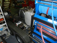 Powder Coated Hose Reel Frame and Hose Reels and Pressure Washers for a Roof Cleaning & Power Washing Trailer