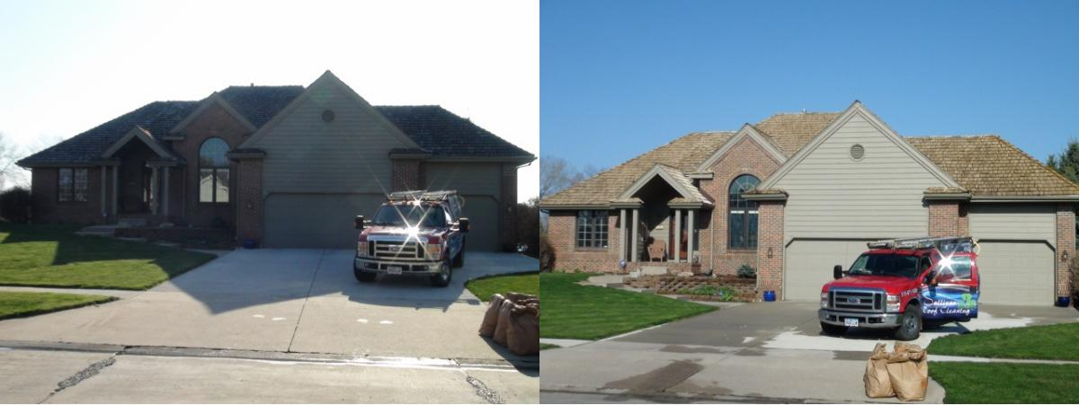 Cedar Shakes Roof Cleaning With Citrus Based Solution By