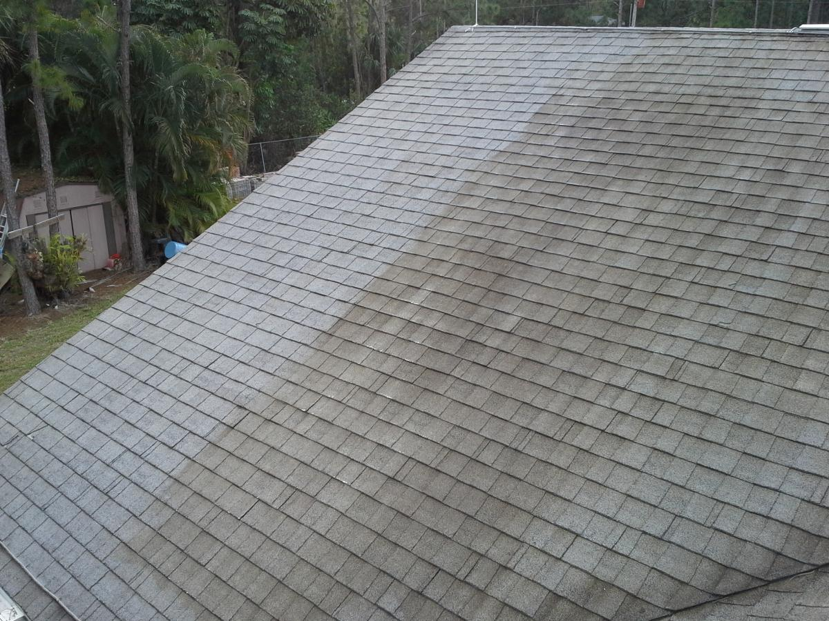 Yellow Staining After Spraying A Roof Asphalt