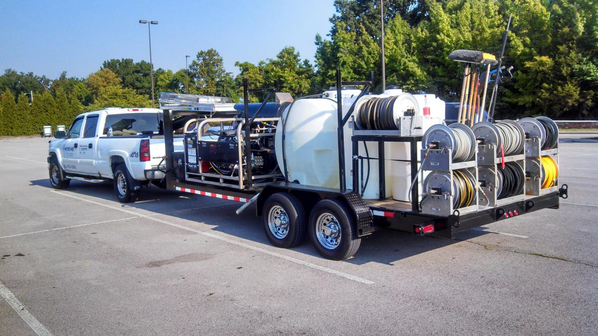Commercial Pressure Washing Amp Roof Cleaning Trailer For