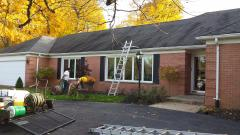 Before roof cleaning by Advantage Roof Cleaning Company Frankfort, Illinois Will County