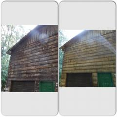 Log cabin soft wash