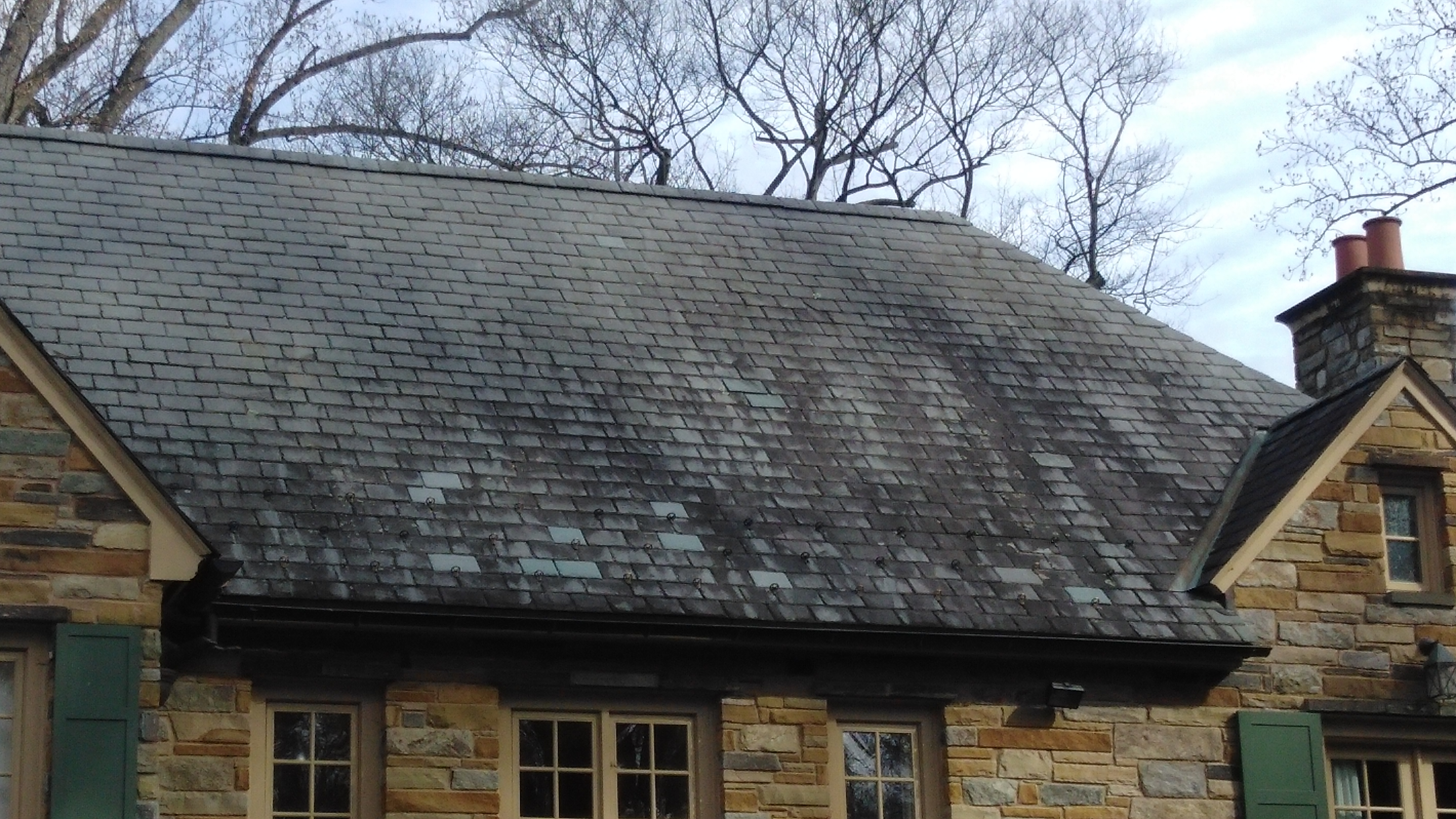 Slate Roof Cleaning Mclean Va 22103 Non Pressure Tile